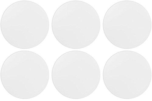 "Stock Your Ceramic Studio - 5"" Round Tile - Set of 6 - Paint Your Own Ceramic Keepsake"