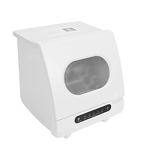 GOTOTOP Mini lavavajillas, lavavajillas compacto de mesa, 5 funciones principales, arranque con un botón, 35-55 minutos, consumo de agua: 2-3L, para 2-6 juegos de vajilla de 40 x 40 x 40 cm (220 V)