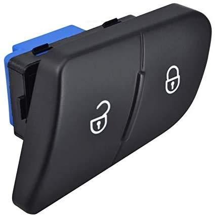 Interruptor de bloqueo centralizado para puerta de conducción, lado del conductor, interruptor de puerta de desbloqueo del lado del conductor/ajuste para VW Passat B6 3C (negro)