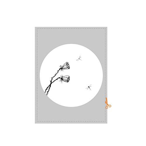 HAOLY Chino Ventana Etiqueta engomada,Ligero Restaurante Partición Cuarto de baño Vaso Anti-política de privacidad Película,para Dormitorio Sala de Estar Puerta corrediza-B 80x120cm(31x47inch)