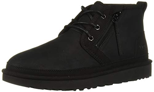 UGG Men's Neumel Zip Chukka Boot, Black Tnl, 10 M US