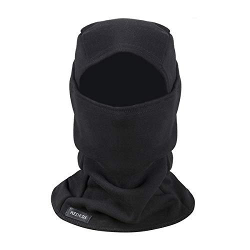 Warm Fleece Balaclava Windproof Ski Mask Cold Weather Face Mask Motorcycle Balaclava Hood Warmer Winter Sports Cap Black