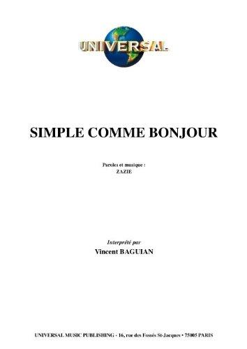 SIMPLE COMME BONJOUR