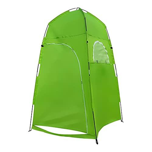 Tienda al aire libre multifuncional y conveniente del tejido de poliester del vestuario verde 120 * 120 * 210cm