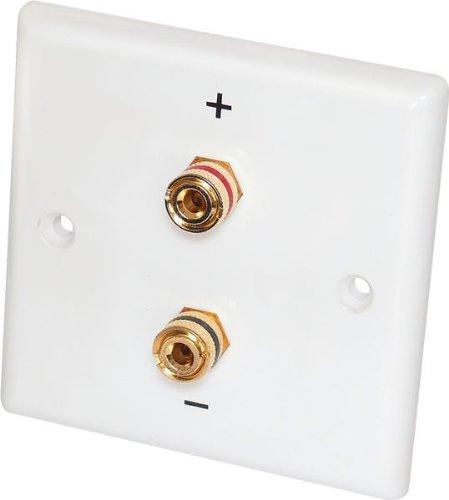 2 Stück - Dynavox Lautsprecher-Wand-Anschlußblende x Bananen-Kupplung