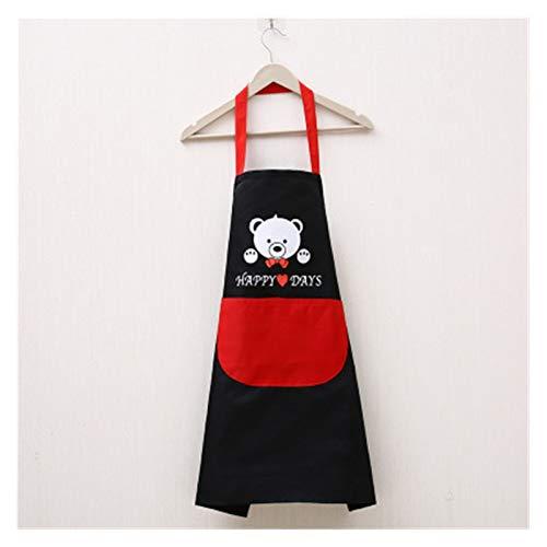 1 unid Rayado Impermeable poliéster Delantal Mujer Adulto Baberos casero cocinar horneando cafetería Limpieza Delantales Cocina Accesorio (Color : E)