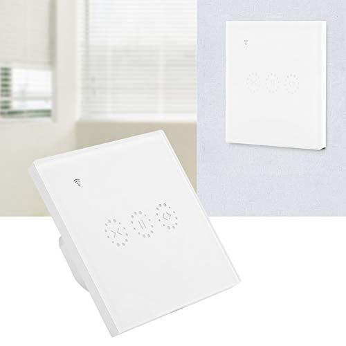 Interruptor táctil de Pared, Interruptor táctil WiFi Duradero, Interruptor táctil de Control de aplicación Inteligente Elegante para el hogar del Garaje(Cubierta Blanca (2272983), Transl)