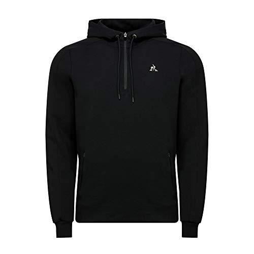 Le Coq Sportif Tech Hoody 1/2 Zip N°1 Sudadera, Hombre, Black, XL