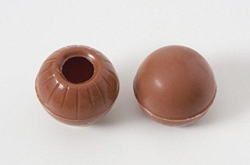 63 Stk. Schokoladentrüffel Hohlkugeln - Pralinen Hohlkörper Vollmilch