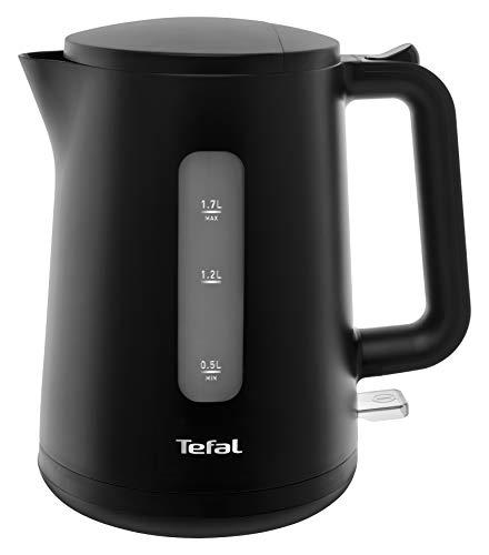 Tefal KO2008 Wasserkocher Principio Select | 2400 Watt | 1,7L Wassertank | Automatischer Ein-/Ausschalter | Antikalk-Filter | schwarz Matt