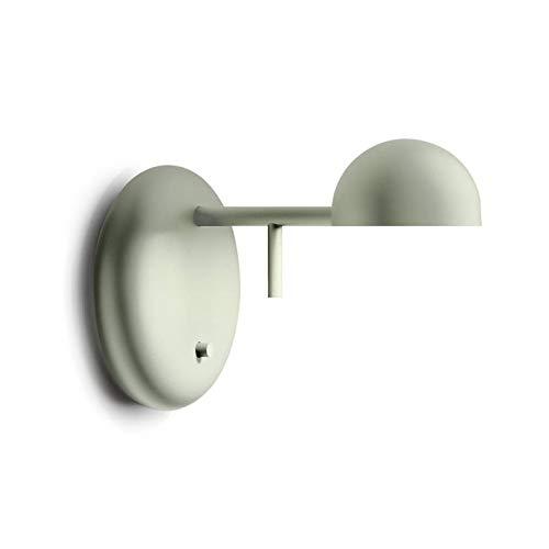 PIN-Wandleuchte, LED, Metall, L15 cm, Grün matt, Vibia – Design von Ichiro Iwasaki