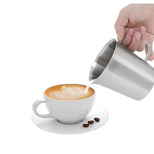Melk Maatbeker met Weegschaal, 500ml Roestvrijstalen Melk Maatbeker met Weegschaal voor Melk Koffie Magnetron Huis Keuken Bakken Drinken Wetenschappelijk Experiment