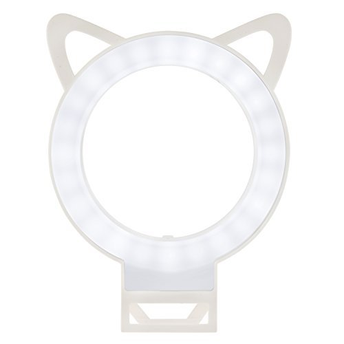 [ UPGRADED ] Selfie Ring Light With 36 LED Bulbs by LUMSELF - Portable Bright Lighting Lamp Flash Clip Ring Pefect For Phone / Laptop / iPad / Camera (White)