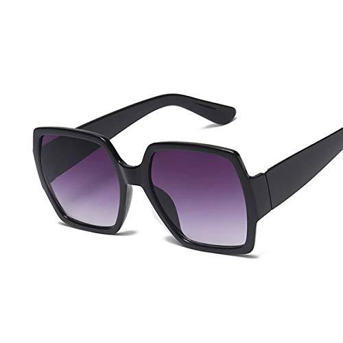 Sunglasses Gafas de Sol de Moda Gafas De Sol De Gran Tamaño para Mujer, Cuadradas, De Lujo, Vintage, con Montura Grande,