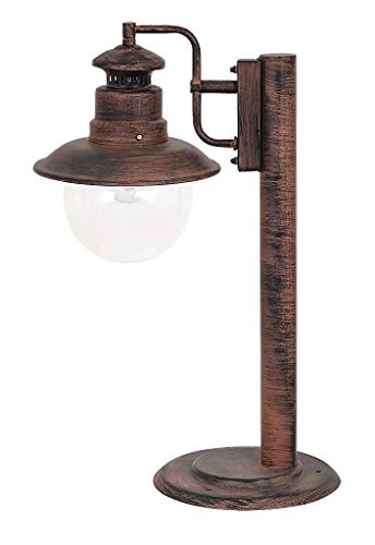 RABALUX 8165 A++ to E, Sockelleuchte Odessa, Metall, E27, Antik Braun, 22 x 33 x 53.5 cm