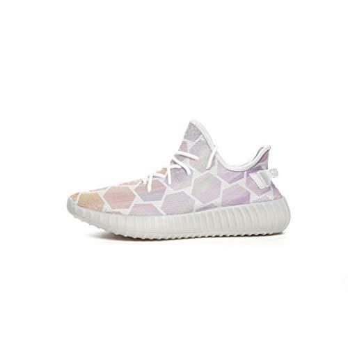CCL8 Unisex Sneaker Herren - Pure und Fresh Sneakers - geometrisches Muster, Klassische Schnürschuhe, bequem, leicht, Weiß - weiß - Größe: 38 EU