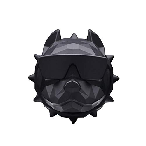No Logo QJBH - Ambientador para coche, diseño de bulldog, Matte black