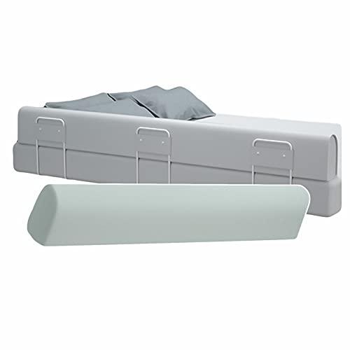 LIQICAI Barandilla Cama Seguridad, Parachoques de rieles de Cama Anti-caída para Cama Individual Doble King, Fácil de Instalar, 3 Colores, 7 tamaños (Color : Gray, Size : (1m+1.5m+1m))