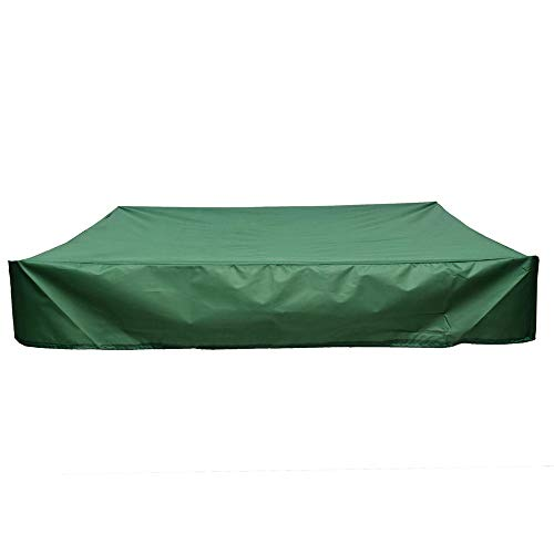 Outdoor Garden Patio Oxford doek materiaal Outdoor Zandbak Zandbak waterdichte hoes Meubilair Ultraviolet regen en stof Protector Meubelset Cover (Color : Green, Size : M)