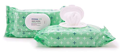 Baby Wipes, Unscented, Vitamin E Aloe Baby Wipe, 72 Pack, McKesson - Case of 12 = 864 Wipes