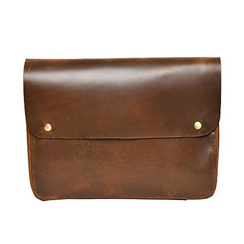 Top Grain Leather Portfolio Envelope Document File Folder MacBook Holder Sleeve Case