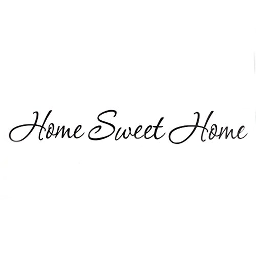 S-TROUBLE DIY Lettre Citation Accueil Sweet Home Stickers Muraux Décoration de La Maison Art Mural Decal
