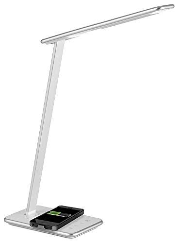 Aluminor ORBIT AG lampe de bureau, ABS et métal, Blanc et argenté