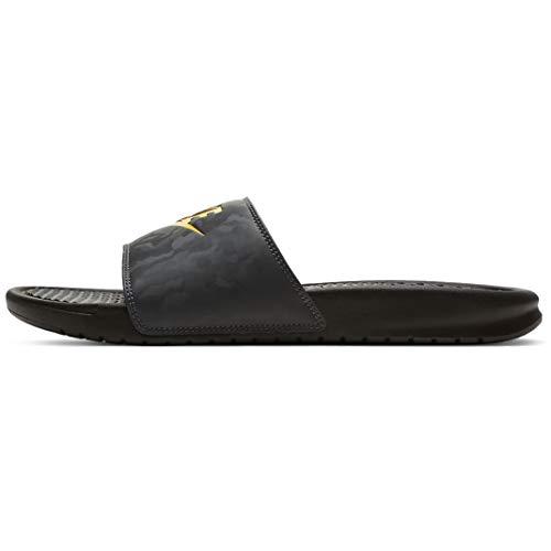 Nike Herren Benassi Just Do It Sandale, Black/Laser Orange-Iron Grey, 38.5 EU