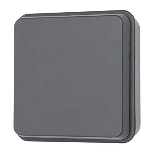 proventa Aplique LED pared exterior 12.5W 550 lm IP54. Aluminio. Foco giratorio 340°. Luz blanca cálida 2.700K. Color gris oscuro