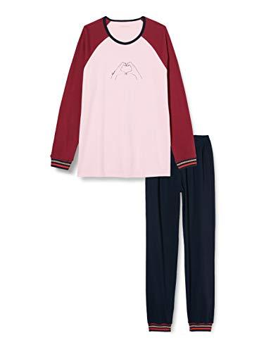 Schiesser Mädchen Schlafanzug lang Pyjamaset, rosa, 164