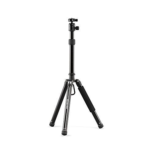 Cullmann Neomax Reisestativ mit geringem Packmaß (28,5 cm), leicht, schwarz, 52526, Höhe: 128 cm