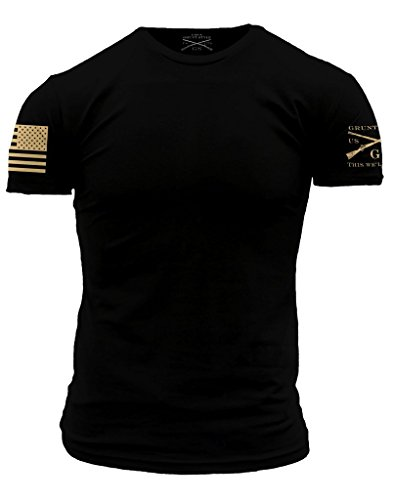 Grunt Style Basic Men's T-Shirt (X-Large, Combat Black)