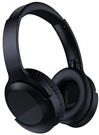 NCRD Auriculares de cancelación de Ruido Bluetooth V5.0 Wireless, Horas largas Transejos de Tiempo de Juego sobre oído con micrófonos y Accesorios rápidos, para TV/PC/teléfono Celular
