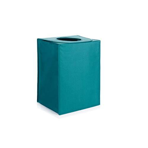 QIQIDEDIAN Panier de Rangement Panier Sale Pliable avec Housse Home Fabric Express Boucle Aimant Conception Sac à bandoulière 40 * 30 * 53 cm (Color : Blue Green)