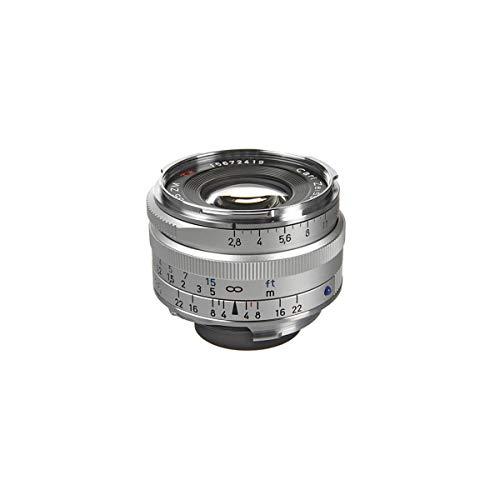 Zeiss Ikon C Biogon T* ZM 2,8/35 Weitwinkel-Kameraobjektiv für Leica M-Mount Entfernungsmesser Kameras, Silber (1486-394-L)