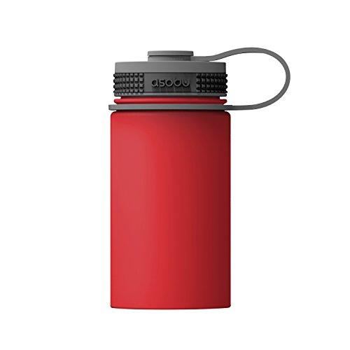 Asobu Mini Hicker Thermosfles, volwassenen, uniseks, rood, 355ml