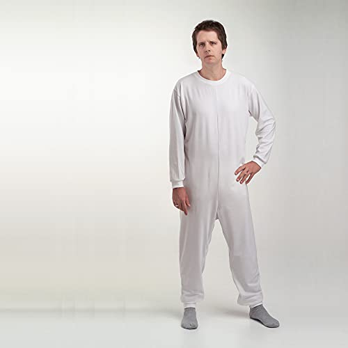 Obbocare - Pijama Antipañal De Adulto De Manga Larga. Pijama Geriátrico De 1 Cremallera Para Facilitar Cambio De Pañal. Tejido Transpirable. Talla M 🔥