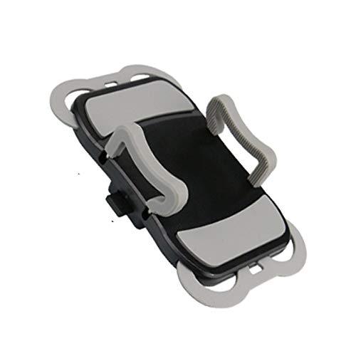 LJFZMD Soporte Motocicleta, Soporte para Teléfono Móvil Anticaída para Navegación En Bicicleta, Ajustable Giratorio De 360 °, para Teléfonos Inteligentes De 4'A 6.5',Negro