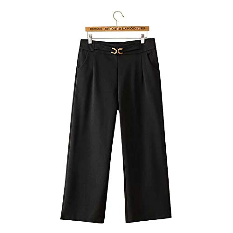 レディース 十分丈パンツ ロング丈 ワイドパンツ ガウチョパンツ きれいめ 黒 LL 3L 4L 5L 大きいサイズ