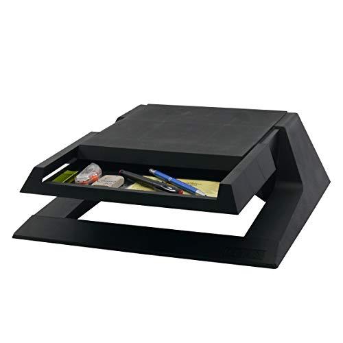 Logo NOP051BN0L Monitorständer mit 1 Schublade für LCD und CRT, Plastik Schwarz