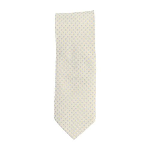 Basic Ties stropdas klassiek polyester champagne floral 8,5 cm