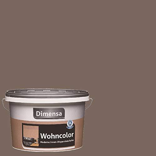 Dimensa Wohncolor bunte Wandfarbe dunkel-braun 2,5 Liter, Erde dunkel-braun