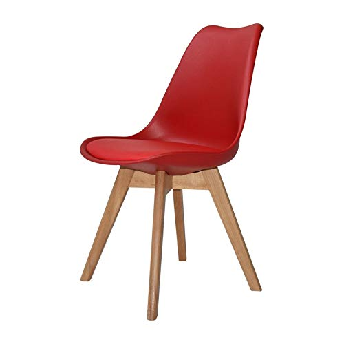 Ventamueblesonline Silla New Tower Wood ROJA Extra Quality