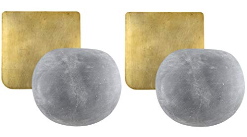 Hanging Planters in Cement - No Drainage Hole – Modern Home Wall Decor - Set of 2 - Dia 2.75 inch/7cms - Living Room, Kitchen, Bedroom, Indoors and Outdoors – Suitable as Candle Holder