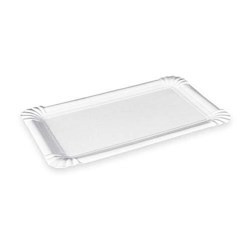 1-PACK Pappteller Kuchenteller Imbissteller Teller Recycling 7 x 14 cm weiß, 250 Stück