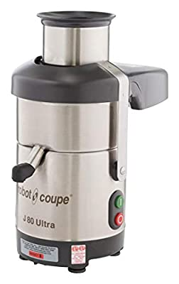 Robot Coupe J80 Ultra Automatic Juicer with Pulp Ejection-120V, 3000 RPM, 6.5 Liter, White