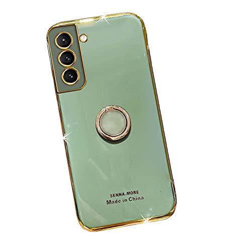 Galaxy S21 Ultra 5G用 ケース/カバー メッキ TPU スマホリング付き ソフト カバー ケース/カバー サムスン ギャラクシー S21ウルトラ ソフトケースおしゃ れ アンドロイド スマフォ スマホ スマートフォンケース/カバー[Gal