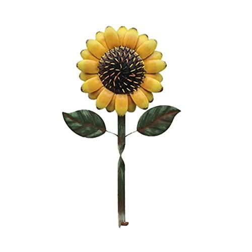 ZNBJJWCP Artificial Flower Storage Rack Vintage Strong Bearing Capacity Sunflower Shape Practical Door Hanger for Living Room Garden Decoration Outdoor (Color : Yellow)