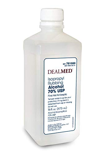 Dealmed Isopropyl Rubbing Alcohol 70% USP, First Aid Antiseptic, 16 fl. oz, (1 Pack)