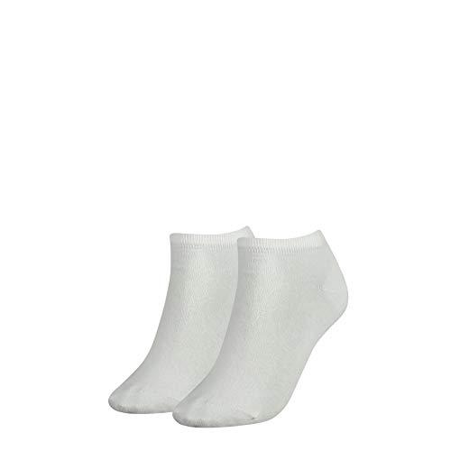 Tommy Hilfiger Frauen Sneaker Trainer Socken, Weiß, 35/38